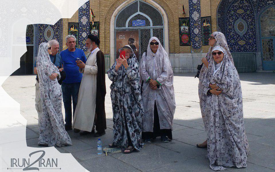 female traveler in Iran